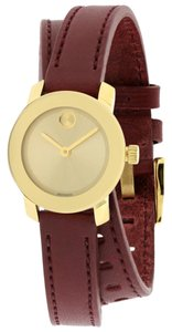 Movado Movado Bold Gold-Tone Leather Ladies Watch 3600344