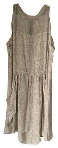 Oonagh by Nanette Lepore Raw Edges Vintage Sheer Top Draped Dress
