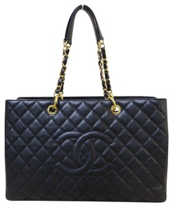 Chanel Xl Caviar Gst Grand Shopping Tote Shoulder Bag