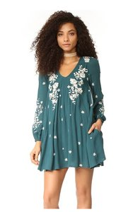 Free People short dress blue combo on Tradesy