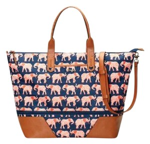 Stella & Dot navy/orange Travel Bag