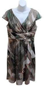Coldwater Creek short dress Multi-Color Abstract Empire Waist Cap Sleeves on Tradesy