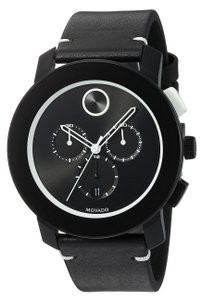 Movado Movado Bold Leather Chronograph Mens Watch 3600386