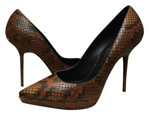 Burberry Python Platform Brown Pumps