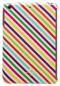 Kate Spade Kate Spade Hardshell Snap-On Rainbow Diagonal Strap iPad Mini 2 Case Cover Retina Display