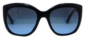Chanel CHANEL Dark Navy w/ Tweed Enamel Squared Sunglasses