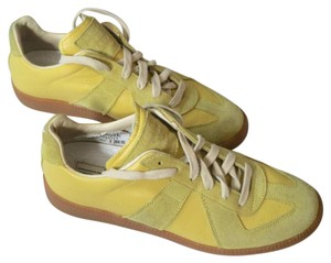 Maison Margiela Replica Trainer Suede Lambskin Yellow Athletic