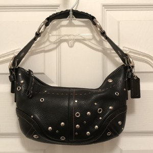 Coach Studded Leather Hobo Bag