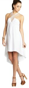BCBGeneration short dress White Strappy Crisscross Strap Hi Lo on Tradesy