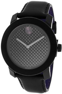 Movado Movado Bold Black Leather Unisex Watch 3600170