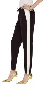 Juicy Couture Tuxedo Stripe Comfortable Relaxed Pants Black