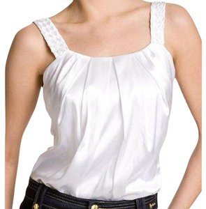fc0647d65 Marciano Bodysuit Top Off White. Marciano Off White Guess Ivory Satin Silk  Braided Strap Bodysuit Layering Tank Top/Cami Size 8 ...