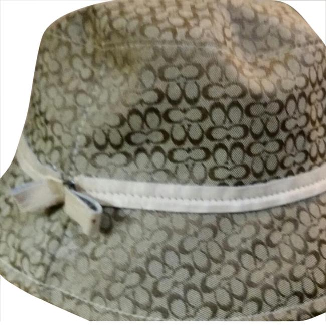 Item - Buff Colored with Gold Monogram Bucket Hat