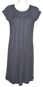 Calvin Klein short dress Gray Knit Shift Cap Sleeves on Tradesy
