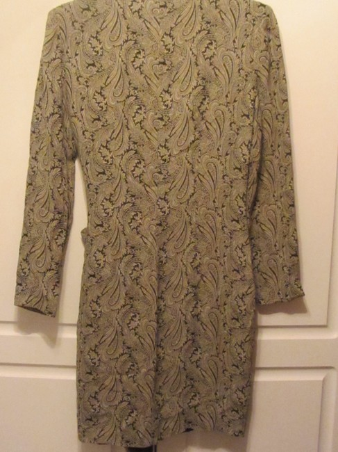 Ann Taylor short dress blue with cream paisly print on Tradesy