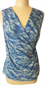 NIC+ZOE Top Blue, White & Green