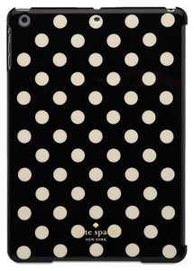 Kate Spade Kate Spade Hardshell Black White Polka Dot iPad Air Retina Case Cover