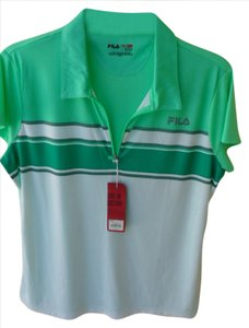 Fila Fila Sports Golf Fitted 100% Polyester Top Shirt Work Out
