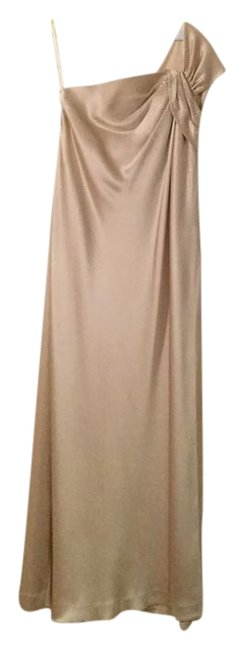 Item - Champagne Silk Formal Bridesmaid/Mob Dress Size 6 (S)