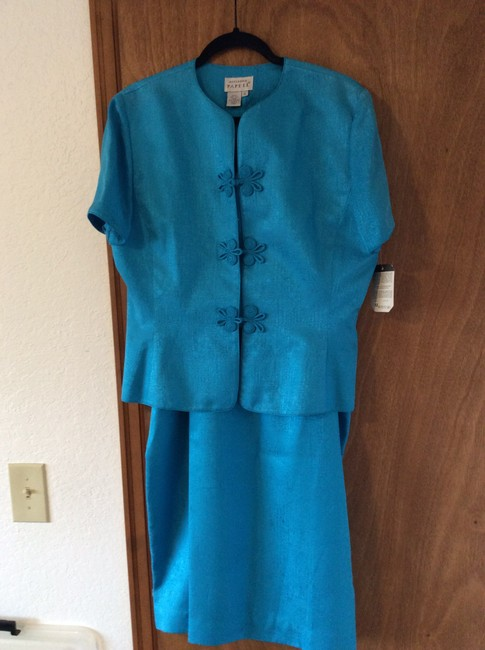 Adrianna Papell Asian inspired all silk suit fully lined
