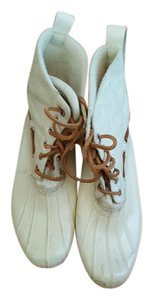 Sperry Duck Topsider Leather Rubber White Boots