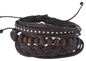 Other Men's Layers Leather Bracelet