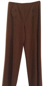 Etcetera Wool Wide Leg Pants Dark brown