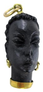 corletto 18KT YELLOW GOLD PENDANT CORLETTO BLACKAMOOR VINTAGE HEAD 1960 ITALY C