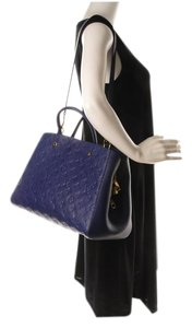 Louis Vuitton Limited Edition Satchel in Iris blue