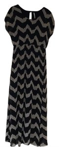 Black and beige Maxi Dress by Modcloth