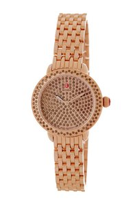 Michele Michele Women's Serein 12 Pave Smokey Quartz Bracelet Watch