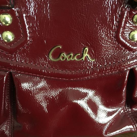 Coach Satchel in Dark Red