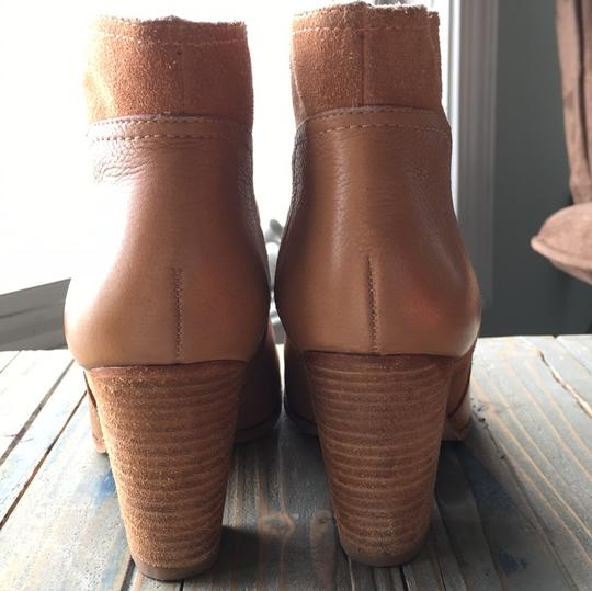 Kate Spade Neutral Suede Tan Ankle camel Boots