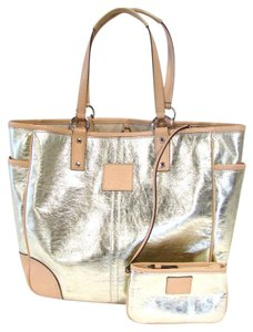 Coach Metallic Shiny Tote in Gold