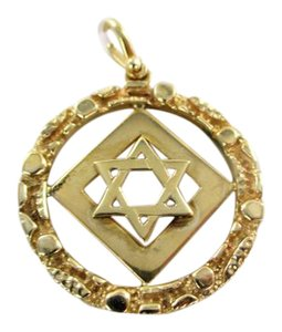 Other 14KT YELLOW GOLD PENDANT STAR OF DAVID JEWISH JEW JUDAISM PROTECTION F