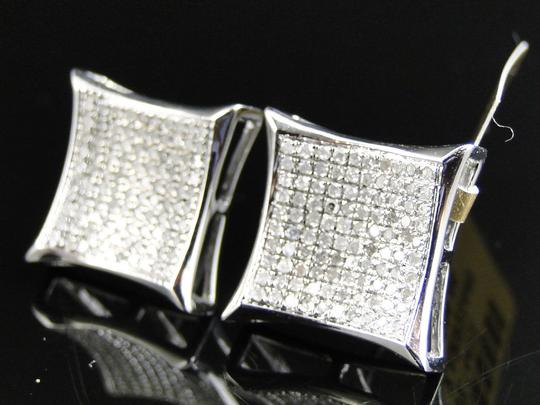 Other 10K White Gold Diamond Kite Pave Shape Stud Earrings 14mm 1.0 Ct