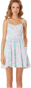 Lilly Pulitzer short dress Blue Pink Green White on Tradesy