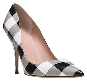 Kate spade Black and White Gingham Pumps