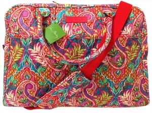 Vera Bradley Satchel Overnighter Carry On Weekender Vacation Travel Paisley in Paradise Travel Bag