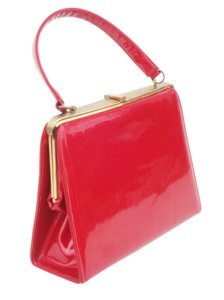 Ronay Mad Men Box Doctors Handbag Satchel in Red