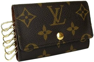 Louis Vuitton France Classic Monogram Canvas Key Holder Case 6 Rings