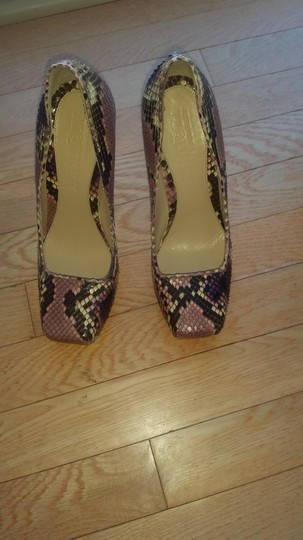 Alexander McQueen Lilac, brown and nude Pumps