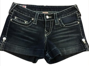 True Religion Disco Jess Cuffed Shorts Denim