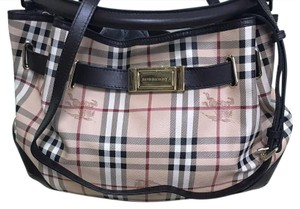 Burberry London Satchel in Brown canvas