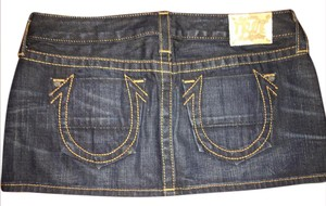 True Religion Mini Skirt Dark denim