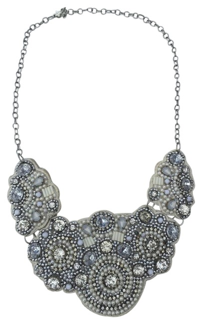 H&M Off White Bib Necklace H&M Off White Bib Necklace Image 1