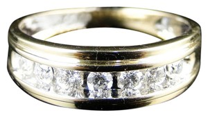 Other 7 Stone Wedding Band Round Cut Diamond 6 Mm Ring .52 Ct