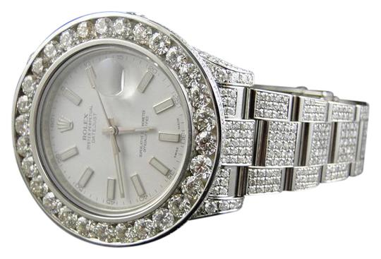 Preload https://img-static.tradesy.com/item/20811692/rolex-stainless-steel-iced-out-mens-new-date-just-ii-2-flooded-with-genuine-diamonds-watch-0-1-540-540.jpg