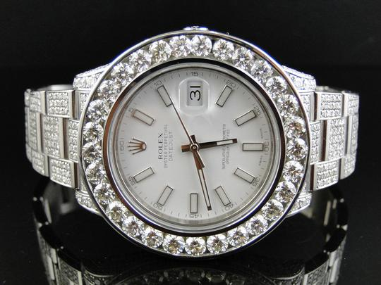 Rolex Iced Out Mens New Rolex Date Just II 2 Flooded With Genuine Diamonds