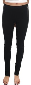 Blumarine Leather Patches Leather Patches Black Leggings